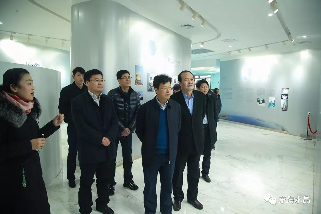江苏省旅游局来东海水晶城考察调研